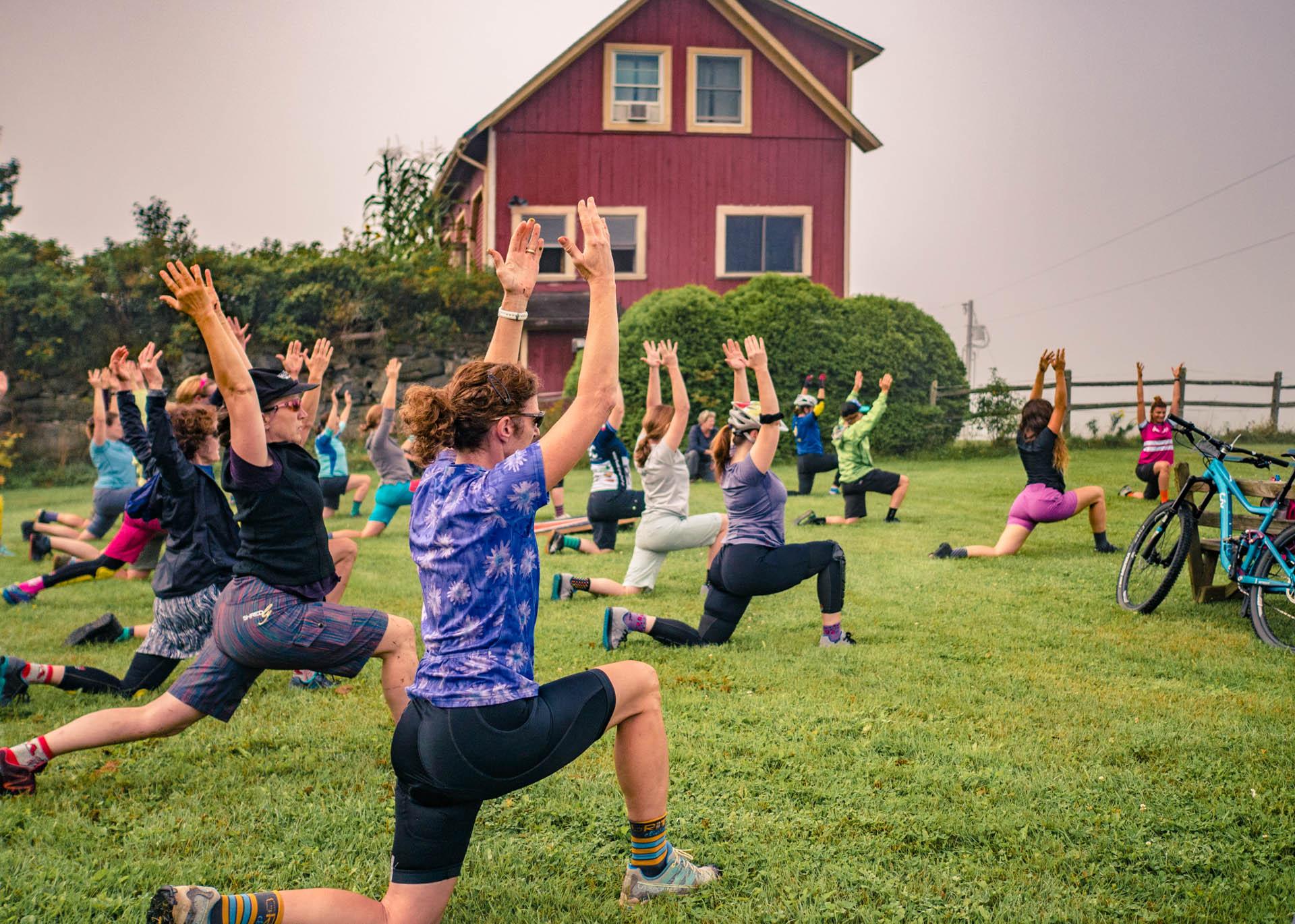 Morning Yoga | Ladies AllRide Clinic East Burke, VT