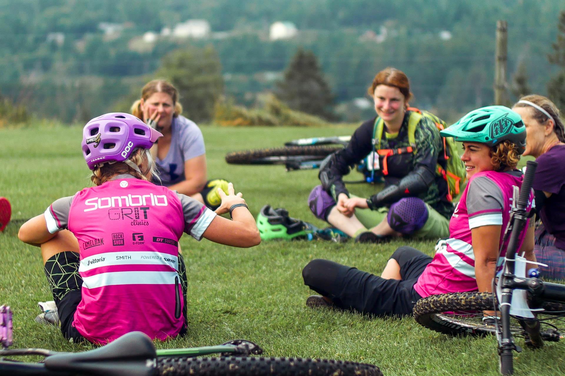 Coaches talk with participants | Ladies AllRide Clilnic East Burke, VT