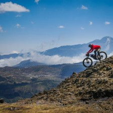 Riding at the geological and mayan religious site Piedras Partidas.   Expedition Volcanarchy: Fatbiking Guatemala's Highest Volcanoes. Original Date: 03/24/2016Location: Piedras Partidas Ixchiguán, Guatemala© 2016 Brendan James Photography www.picsporadic.com