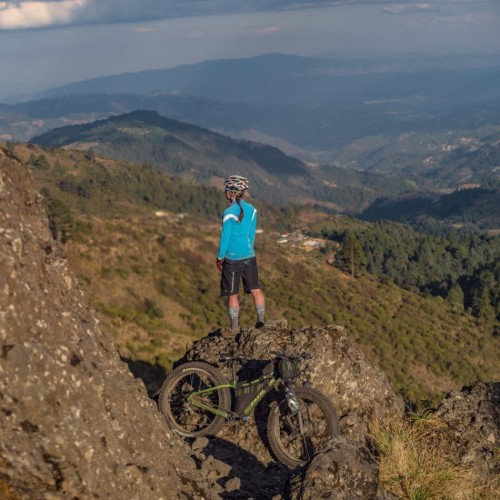 Volcanarchy:  Fatbiking Guatemala's Highest Volcanoes. Sponsors: Fatback Bikes, Lauf Forks, Gore Bike Wear, Julbo USA. | Unnamed Road , GuatemalaFilename: VC2016_EP02-XCHI-0324-GH3-018-PanoOriginal Date: 03/24/2016© 2016 Brendan James Photography www.picsporadic.com