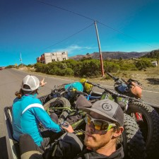 When you reach the end of the chicken bus network - you move on to the flete and pickup system - most drivers in Guatemala are happy to give you a ride if you help out with a few Quetzales for gas. | Expedition Volcanarchy: Fatbiking Guatemala's Highest Volcanoes. Original Date: 03/25/2016Location: Unnamed Road , Guatemala© 2016 Brendan James Photography www.picsporadic.com