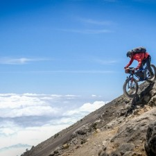 You could say we pused the bikes to the limit on this trip. This is what fat tires are made for navigating the steep and loos volcanic rubble on  Volcán Acatenango (13,040 ft). The volcano's last eruption was in 1972.