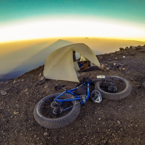 Volcanarchy:  Fatbiking Guatemala's Highest Volcanoes. Sponsors: Fatback Bikes, Lauf Forks, Gore Bike Wear, Julbo USA. | Ruta Volcán Acatenango , GuatemalaFilename: VC2016_EP03-ACAT-0329-GOPRO-14Original Date: 03/29/2016© 2016 Brendan James Photography www.picsporadic.com