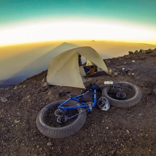 Volcanarchy:  Fatbiking Guatemala's Highest Volcanoes. Sponsors: Fatback Bikes, Lauf Forks, Gore Bike Wear, Julbo USA.   Ruta Volcán Acatenango , GuatemalaFilename: VC2016_EP03-ACAT-0329-GOPRO-14Original Date: 03/29/2016© 2016 Brendan James Photography www.picsporadic.com